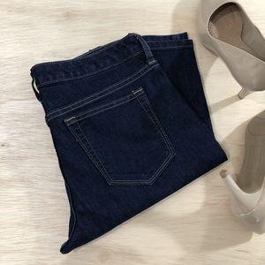 Banana Republic Skinny Short Straight Blue Jeans